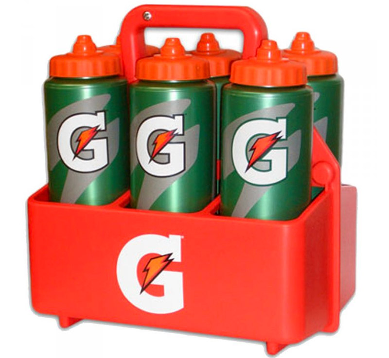 Nosič +6 lahví GATORADE 32oz + GATORADE POWDER ORANGE