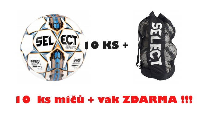 Míč SELECT BRILLANT SUPER sada 10 ks+vak ZDARMA !!!
