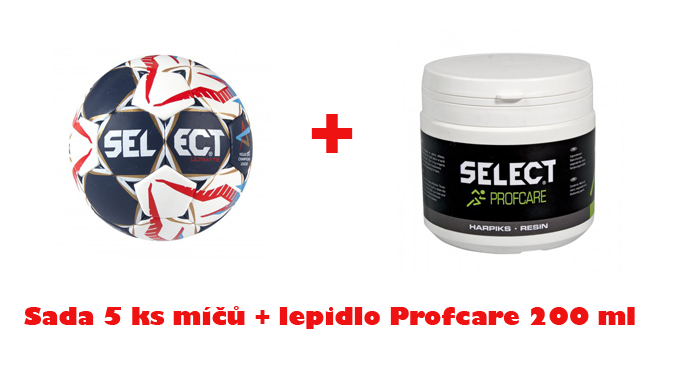 Míč Select HB Ultimate Replica CHL sada 5 + lepidlo  PROFCARE 200 ml ZDARMA !!!