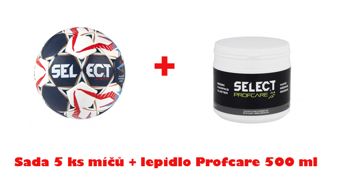 Míč Select HB Ultimate CHL sada 5 ks + lepidlo PROFCARE 500 ml ZDARMA !!!