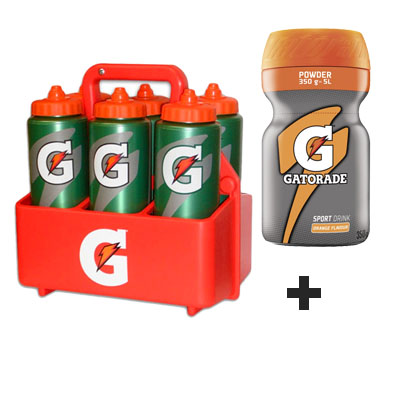 Nosič +6 lahví GATORADE 32oz 0,9 L + 1 ks GATORADE POWDER ORANGE ZDARMA !!!