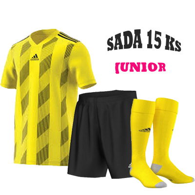 Sada 15 ks Dresů ADIDAS STRIPED 19, JUNIOR