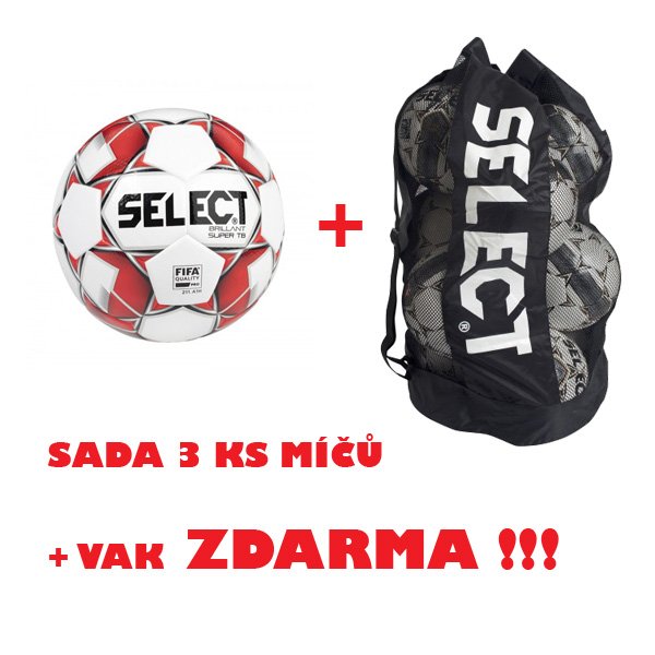Míč SELECT FB BRILLANT SUPER TB,sada 3 ks+vak !!!