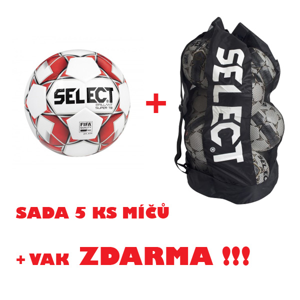 Míč SELECT FB BRILLANT SUPER TB,sada 5 ks+vak ZDARMA !!!
