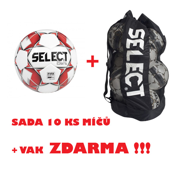 Míč SELECT FB BRILLANT SUPER TB,sada 10 ks+vak ZDARMA !!!