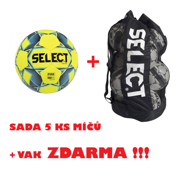 Míč SELECT FB TEAM FIFA,sada 5 ks + vak ZDARMA !!!