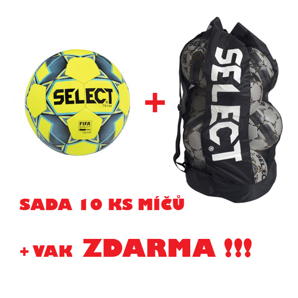 Míč SELECT FB TEAM FIFA,sada 10 ks + vak !!!