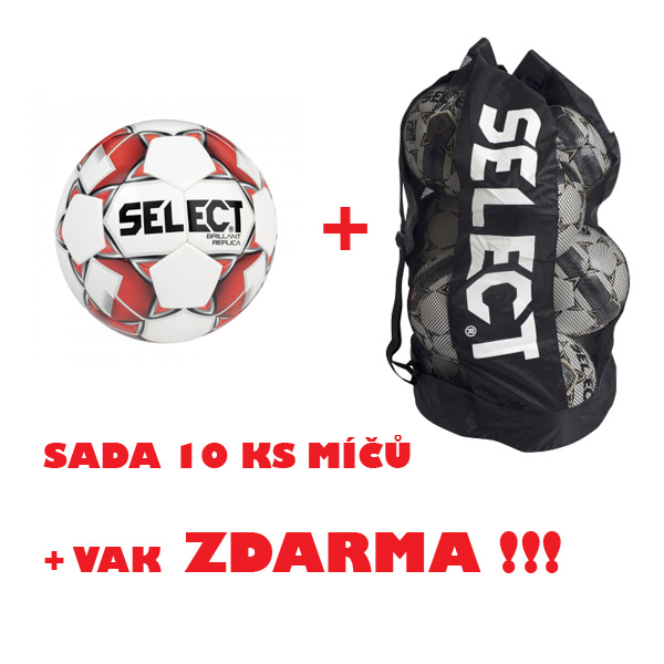 Míč SELECT FB BRILLANT SUPER REPLIKA,sada 10 ks + vak !!!