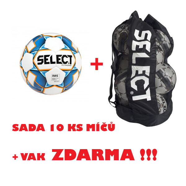 Míč SELECT FB DIAMOND,sada 10 ks + vak !!!