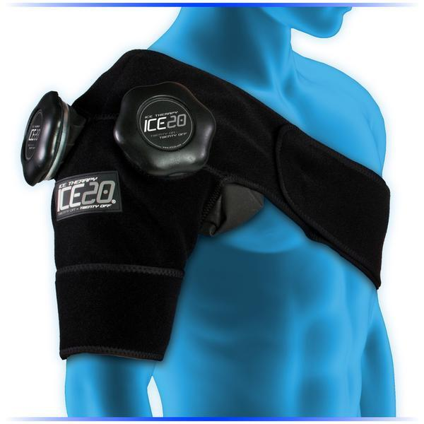 Kompresní ice bag ramenní dvojitý,ICE20 Double Shoulder Ice Compression Wrap