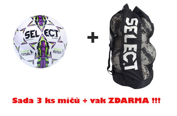 Míč Select FB FUTSAL SUPER,sada 3 ks + vak ZDARMA !!!